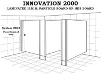 Toilet Partition - Innovation 2000 - System 2002