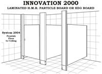 Toilet Partition - Innovation 2000 - System 2004