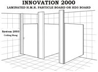Toilet Partition - Innovation 2000 - System 2003