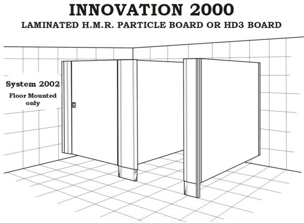 System 2002 toilet, floor mounted only